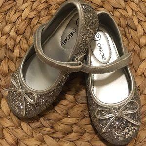 Other - Girls Silver Glitter Ballet Flats